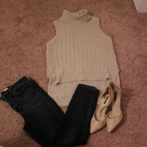 Beige Sweater Top